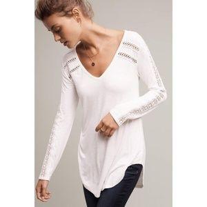 Deletta white tunic with lace
